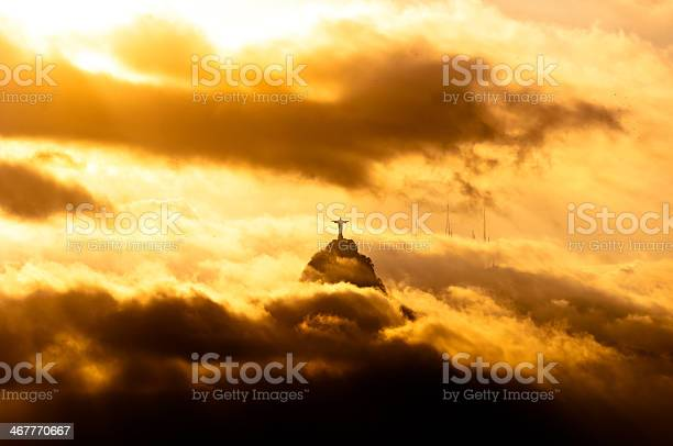 Photo of Christ the Redeemer Statue in Clouds