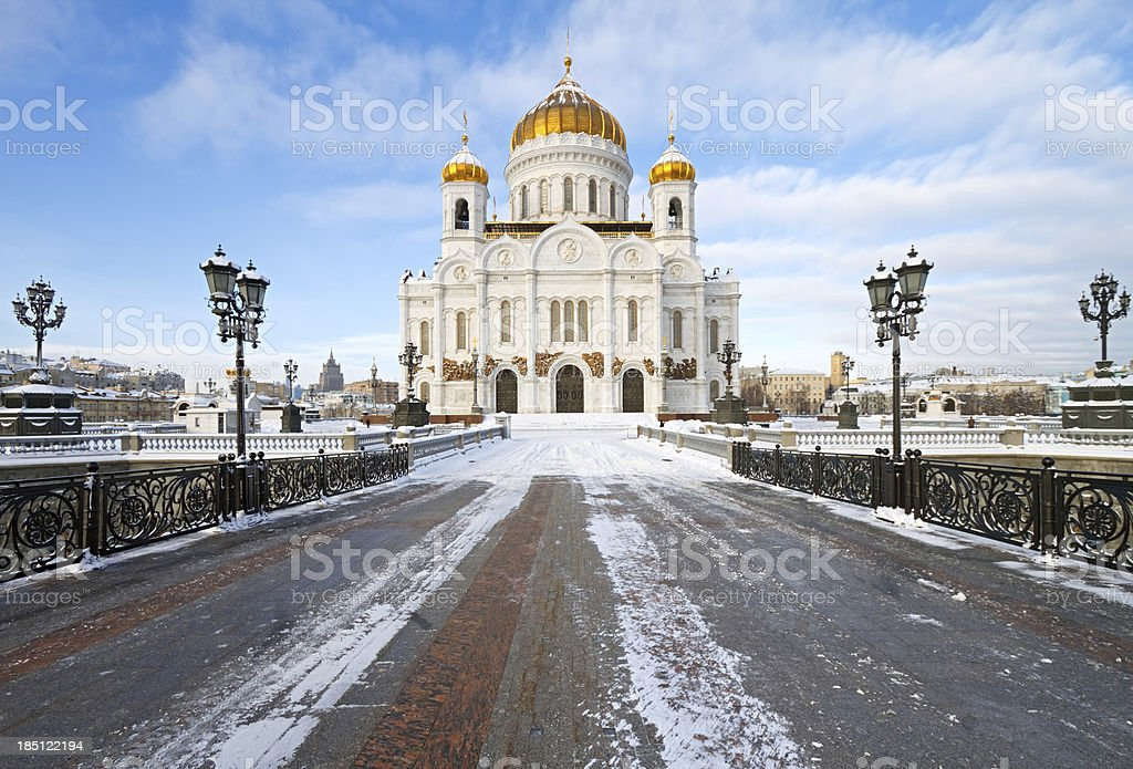 Christ the Saviour Cathedral, Moscow, Russia stock photo