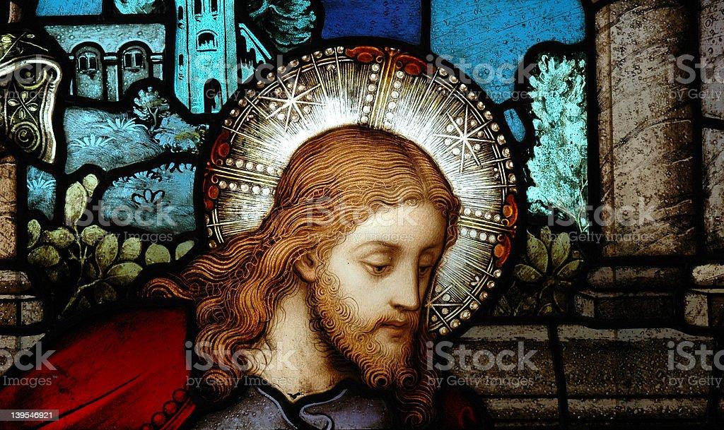 Christ Window royalty-free stock photo