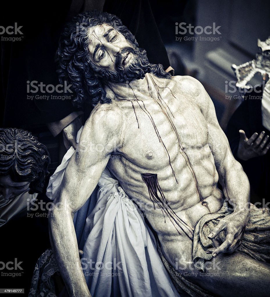 christ wounded royalty-free stock photo
