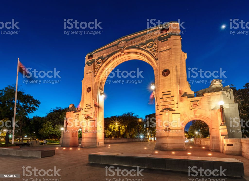Christchurch Arch of Bridge of Remembrance New Zealand stock photo