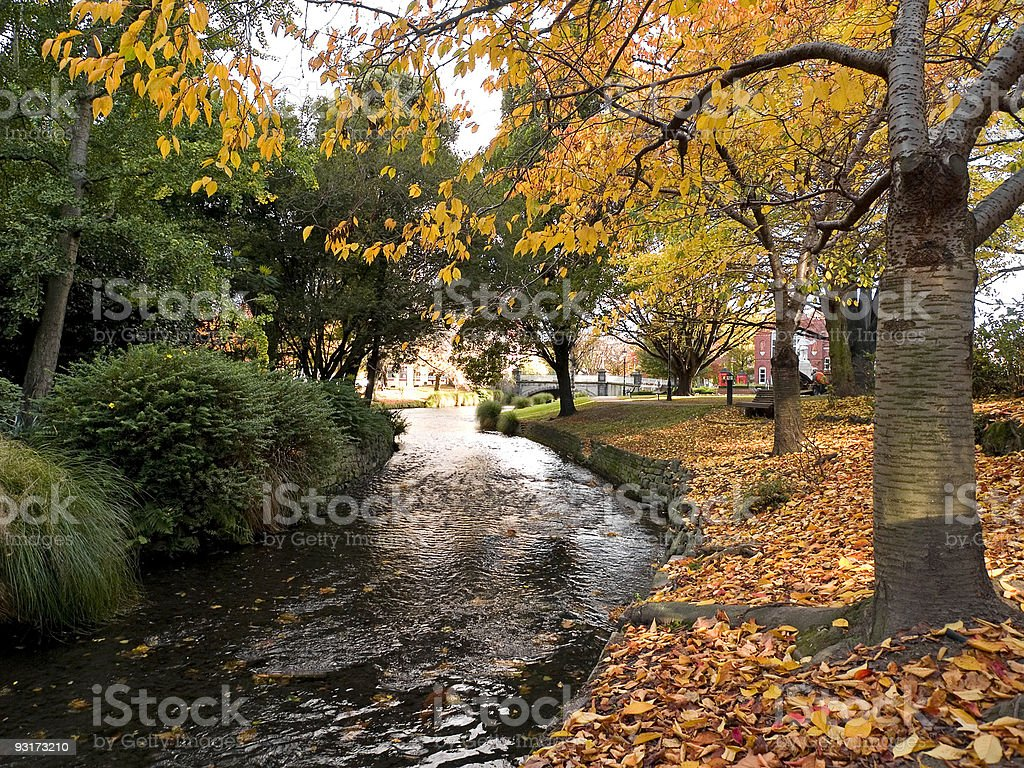 Christchurch Autumn stock photo
