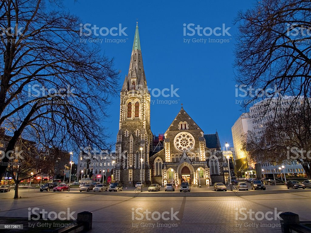 Christchurch Cathederal stock photo