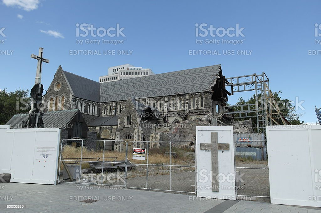 Christchurch Cathedral - New Zealand stock photo