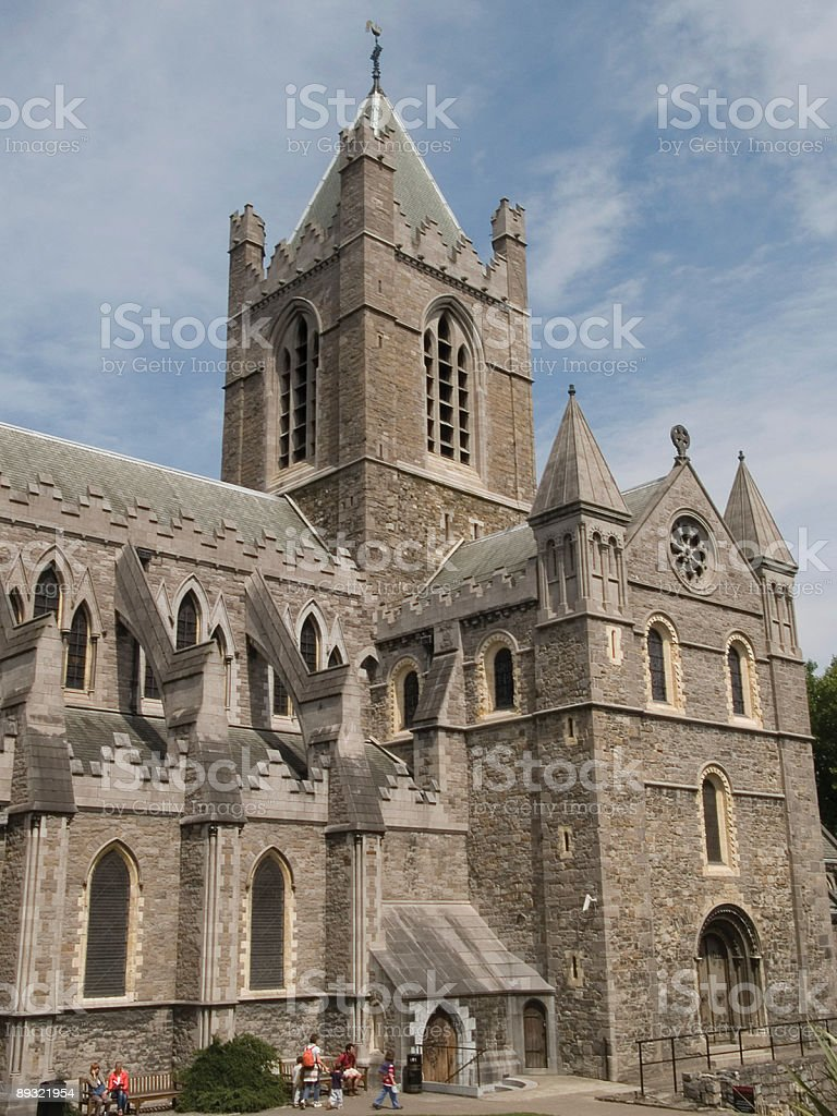 Christchurch Cathedral stock photo
