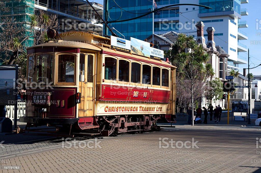 Christchurch Tram stock photo
