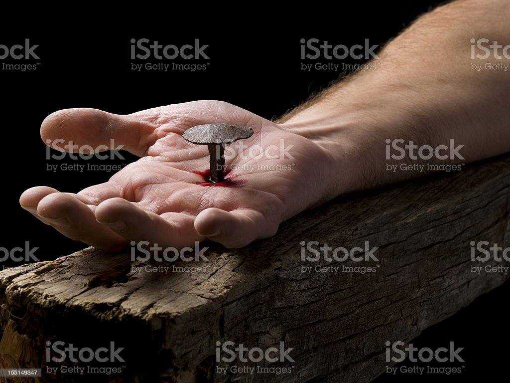 Christ.Easter Holy Week royalty-free stock photo