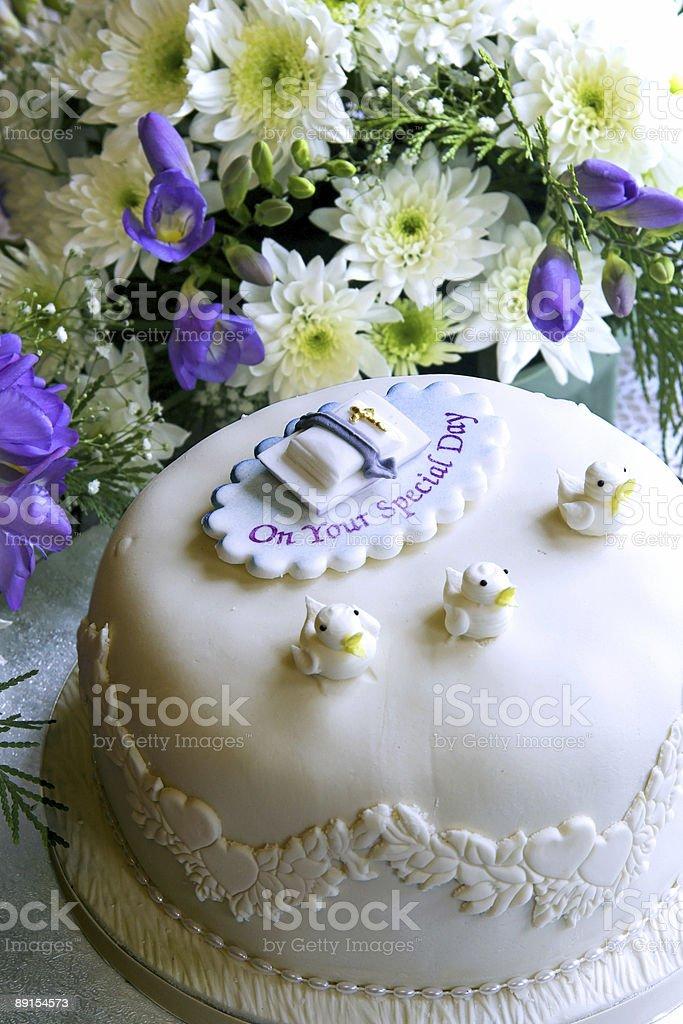 Christening cake royalty-free stock photo