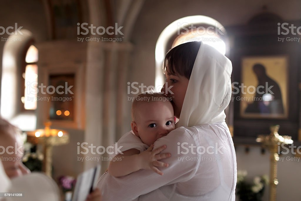 Christening stock photo