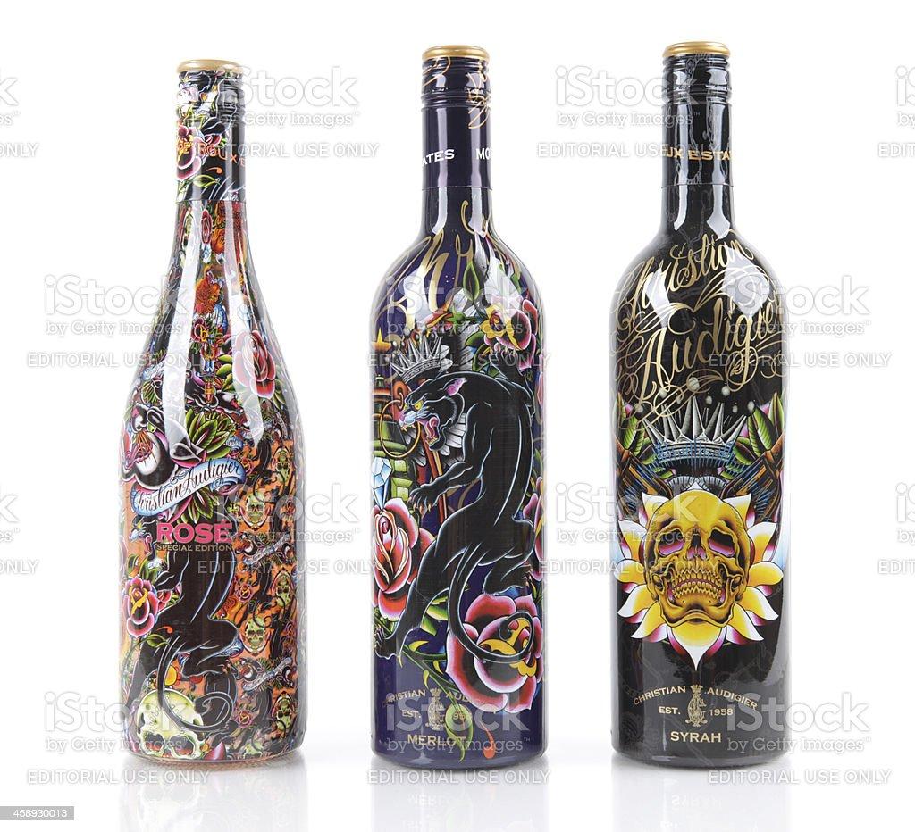 Christian Audigier Wines royalty-free stock photo