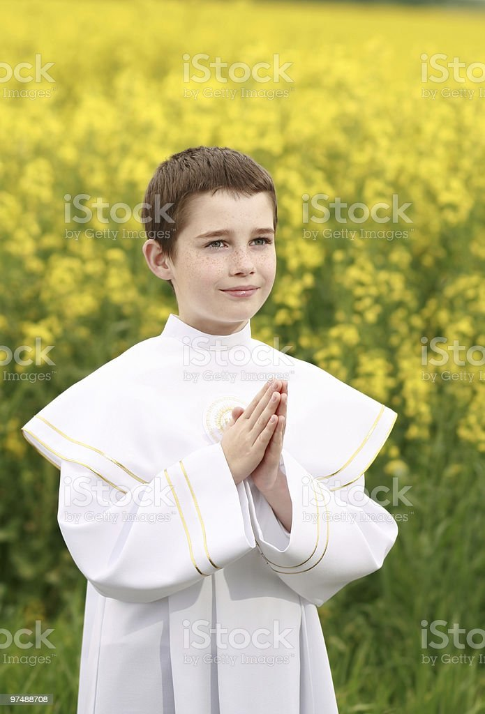 christian boy royalty-free stock photo