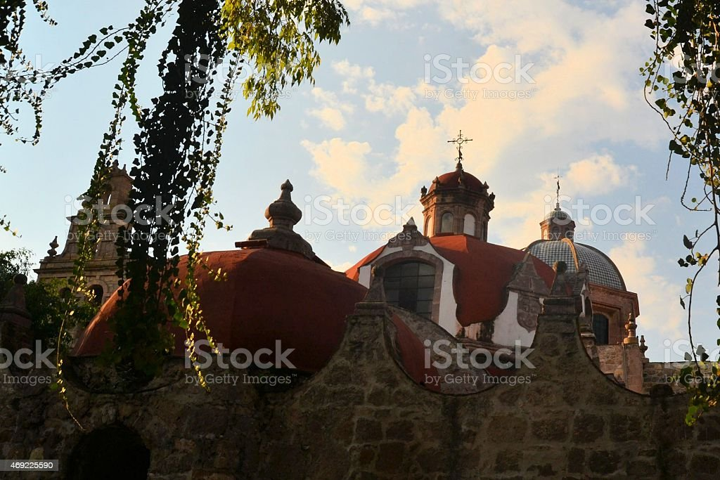 Christian Catholic Colonial church, Morelia, Mexico stock photo