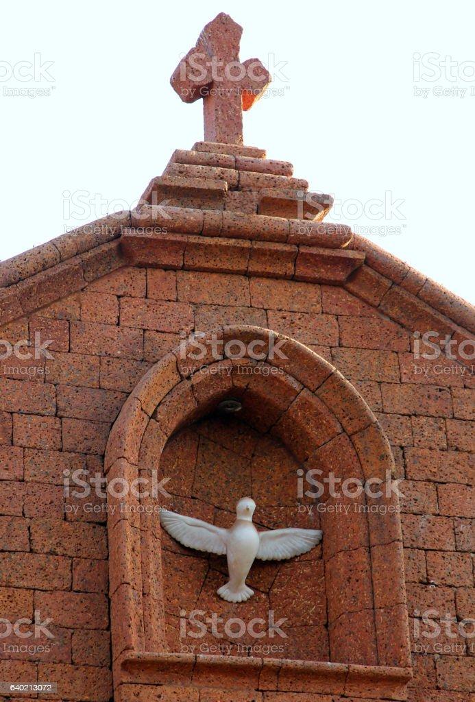 Christian church in Baga, Goa, India stock photo