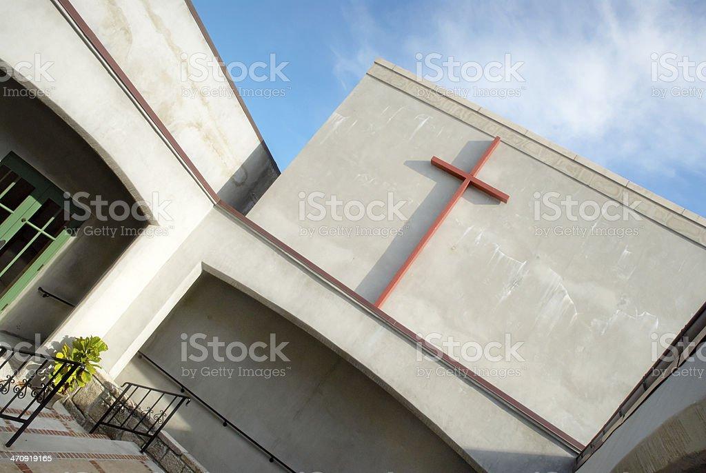 Christian Church Outside royalty-free stock photo