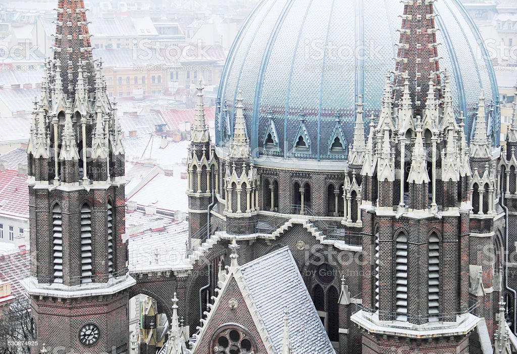 christian church, St. Maria's in winter, Vienna, Austria, stock photo