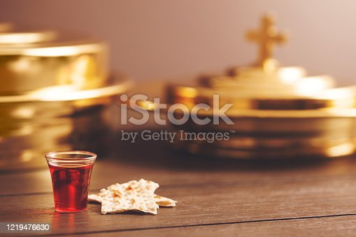 Christian Communion Cup and Bread