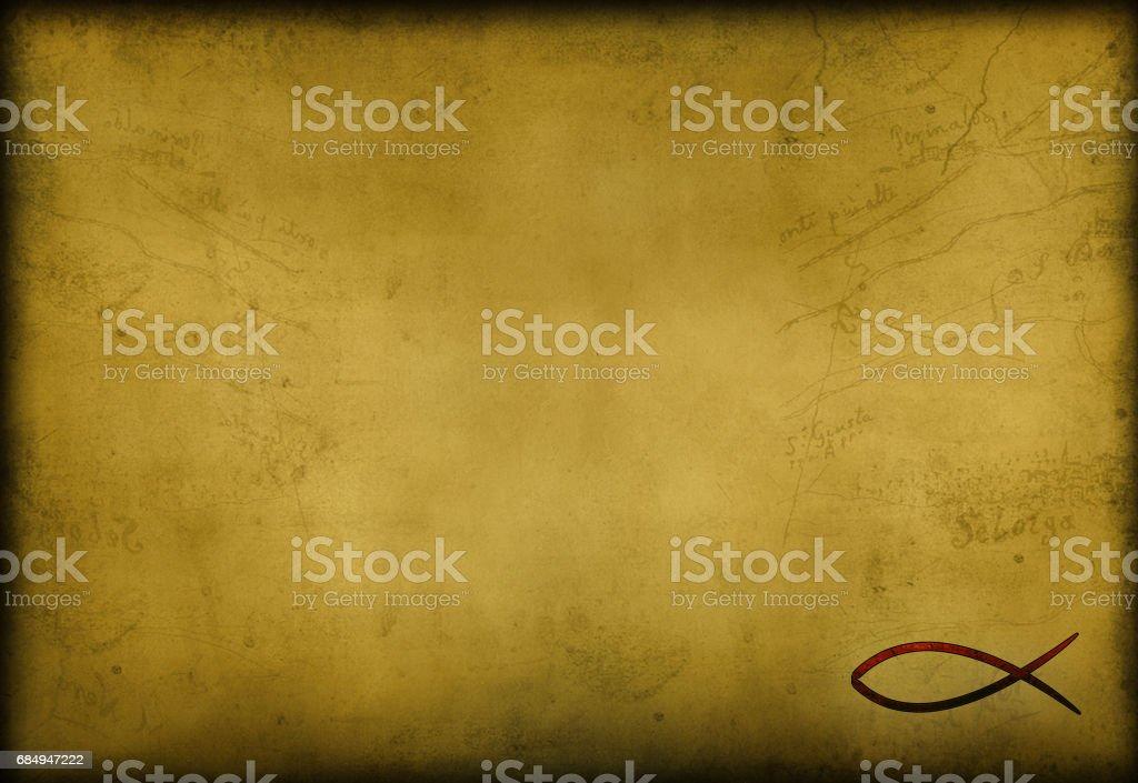 christian  cross ichthys fish powerpoint background Lizenzfreies stock-foto