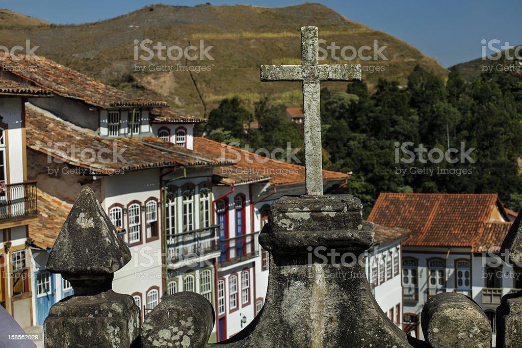 크리스티앙 교차, 오루 프레토 브라질 royalty-free 스톡 사진