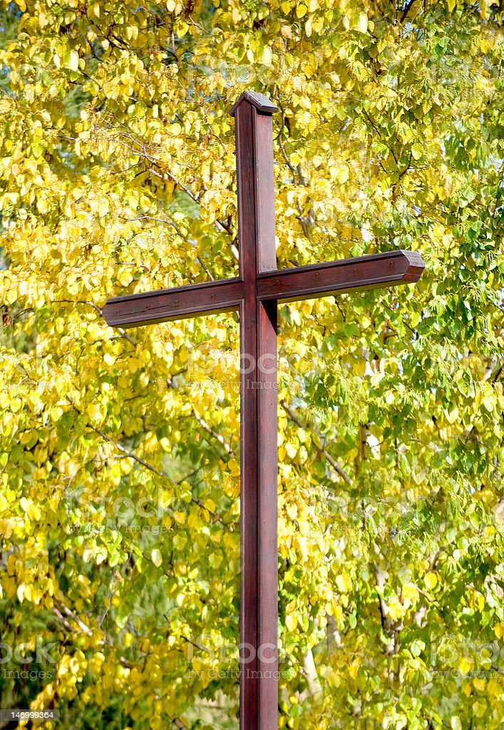 Christian cross-over-Herbstmuster – Foto