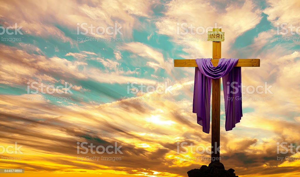christian cross over bright sunset background stock photo more