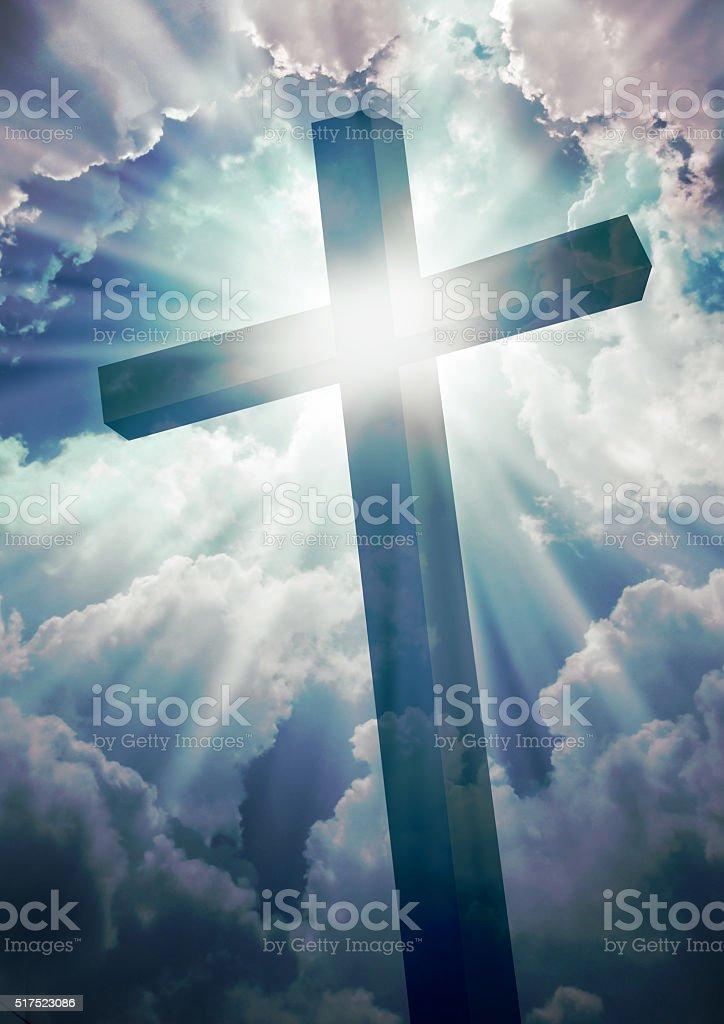 Christian Cross stock photo