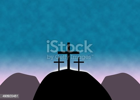 istock Christian Easter Cross Background 493920451