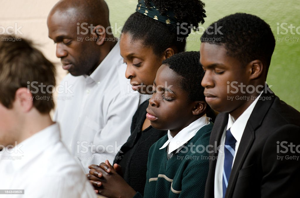 Christian family stock photo