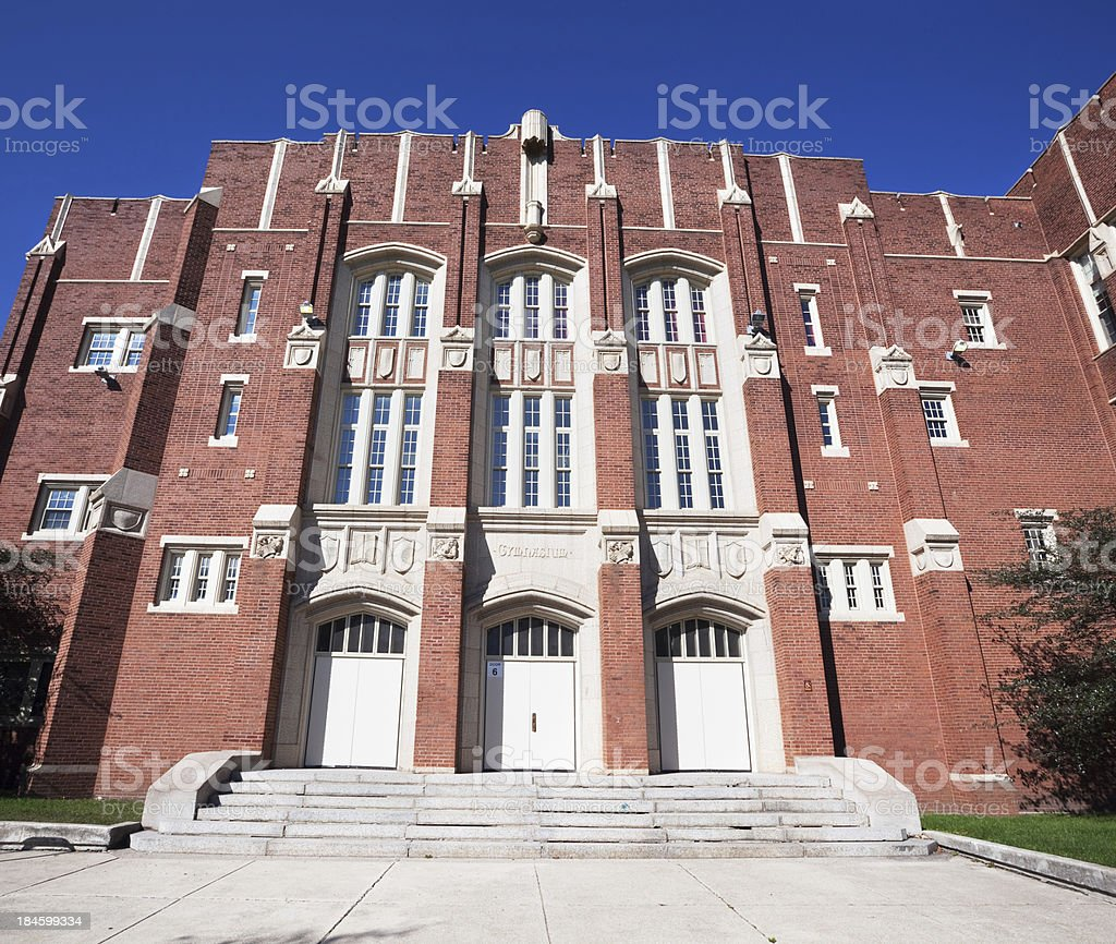 Christian Fenger High School in Roseland, Chicago royalty-free stock photo