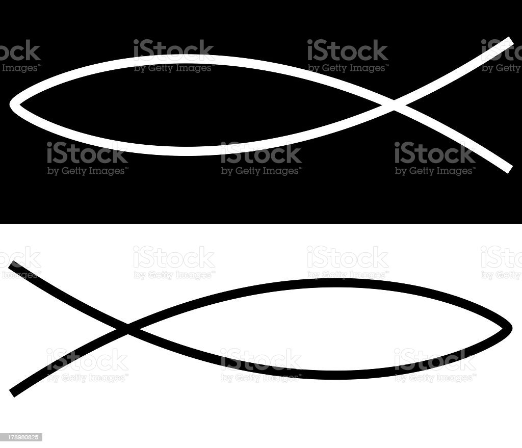 christian fish stock photo