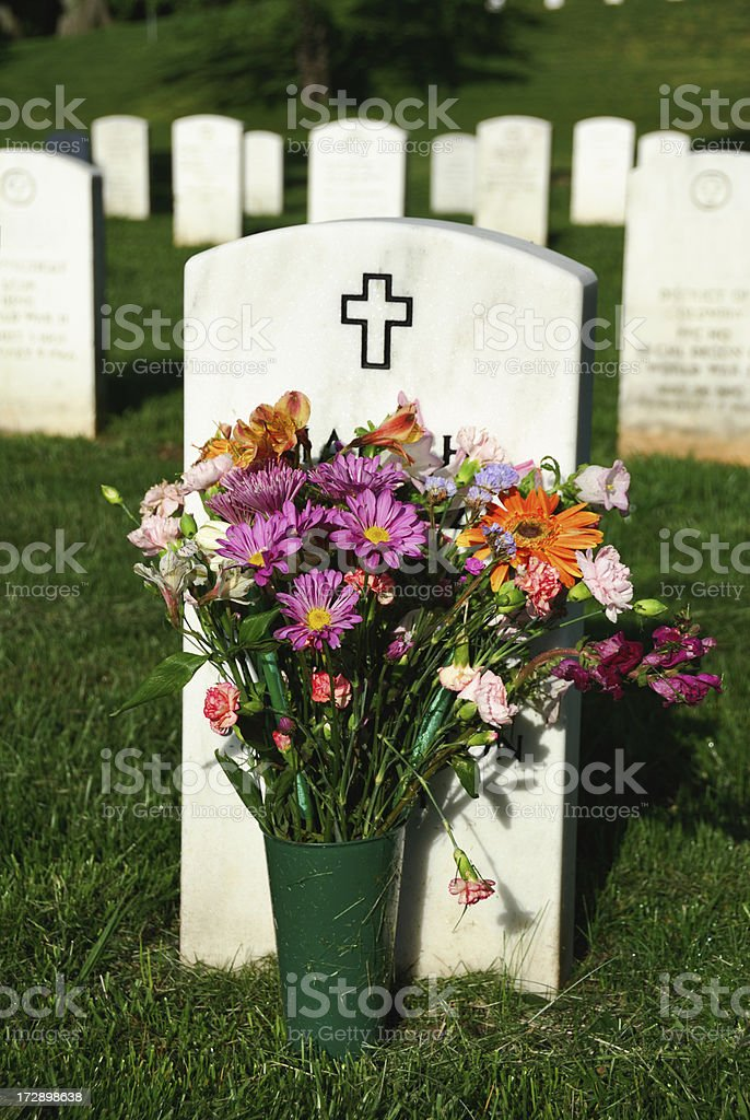 Christian Grave at Arlington royalty-free stock photo