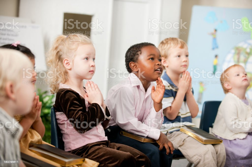 Christian kids stock photo