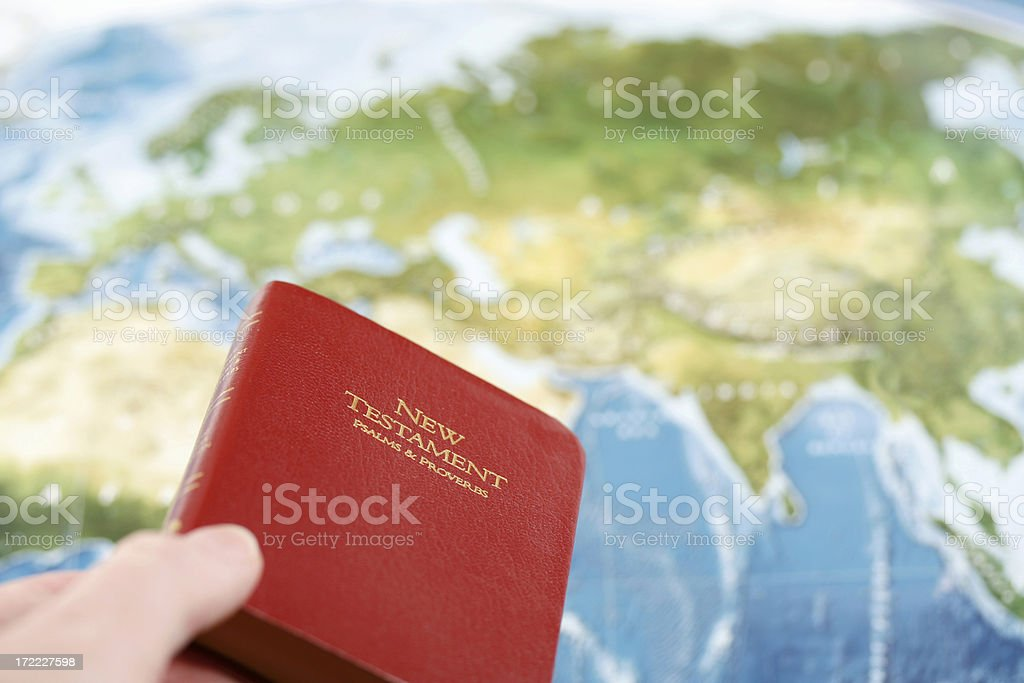 Christian Missionary stock photo
