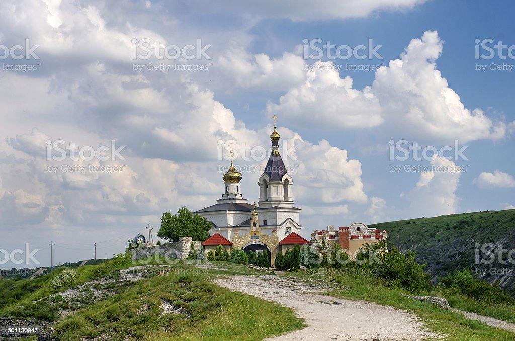 Christian Orthodox church in Old Orhei, Moldova stock photo