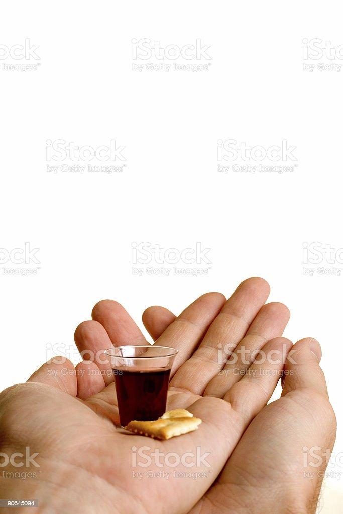 Christian - Receiving Communion #2 royalty-free stock photo