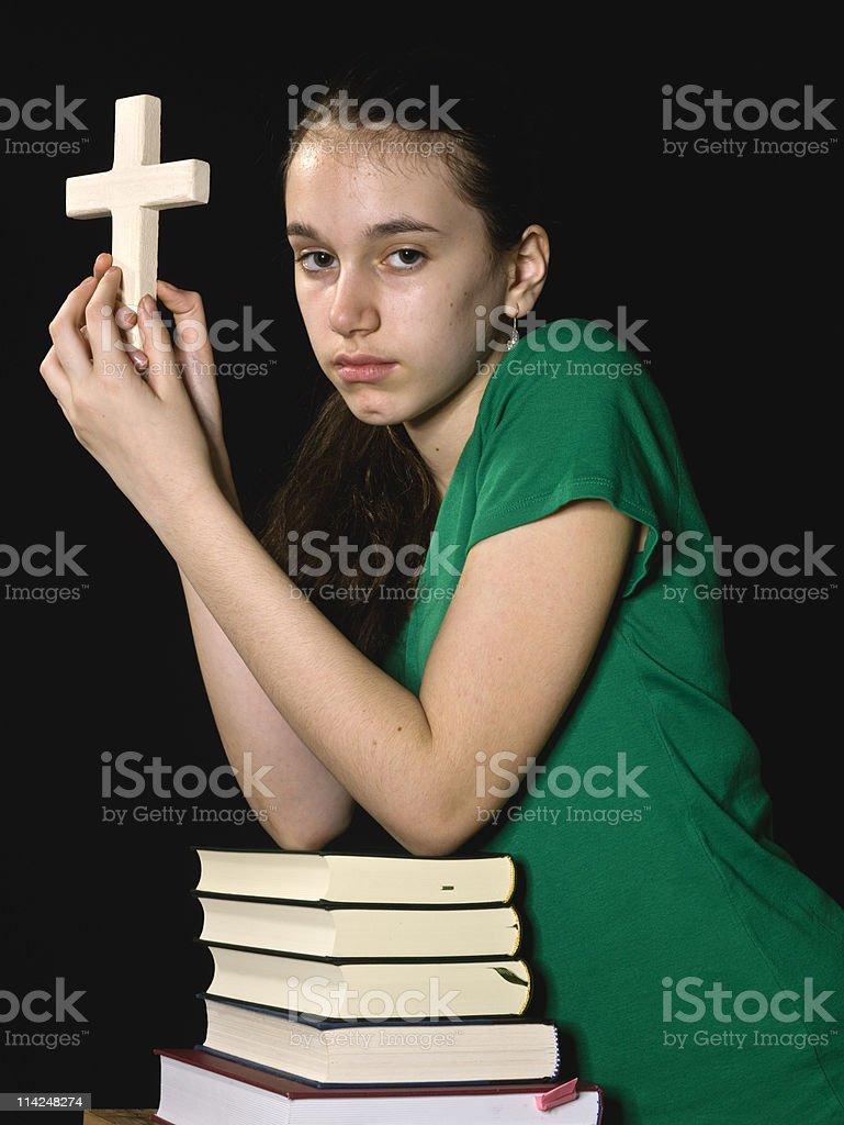 Christian schoolgirl royalty-free stock photo