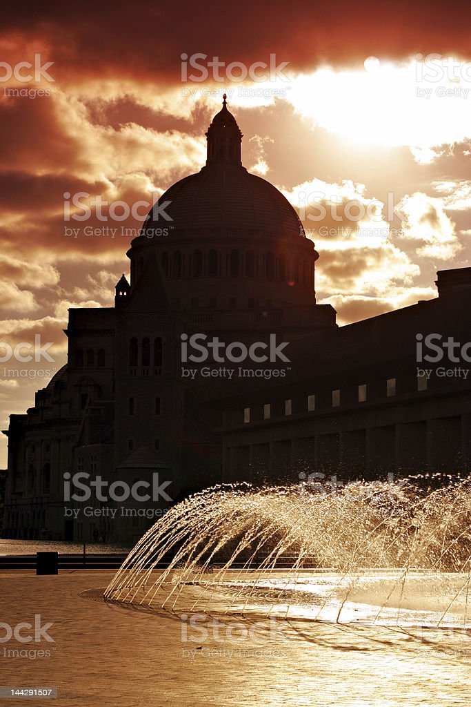 Christian Science Church, Boston royalty-free stock photo