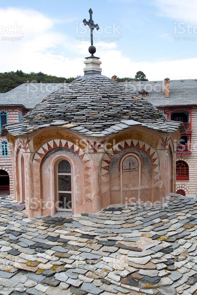 Christian shrine on Mount Athos royalty-free stock photo