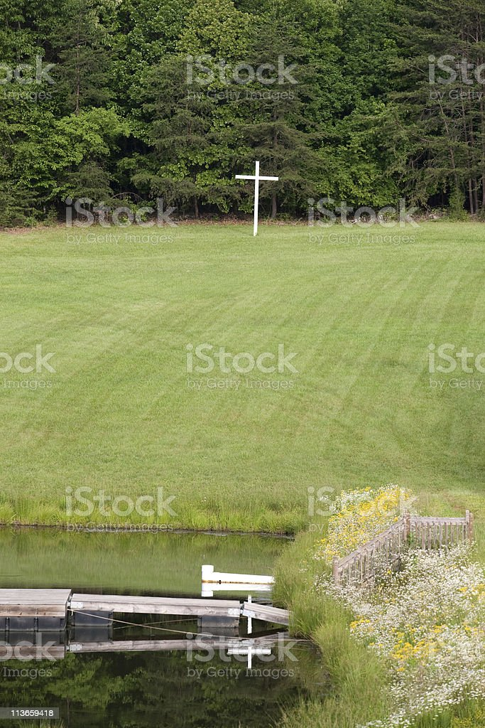 Christian summer camp stock photo