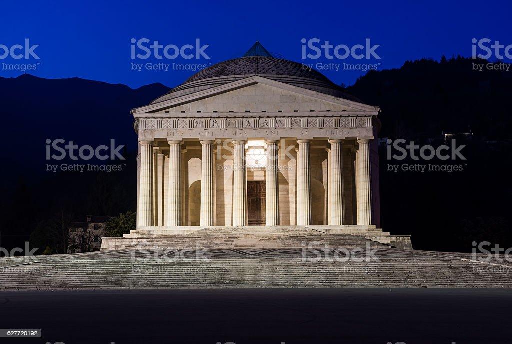 Christian temple by Antonio Canova. Roman and Greek religious architecture stock photo