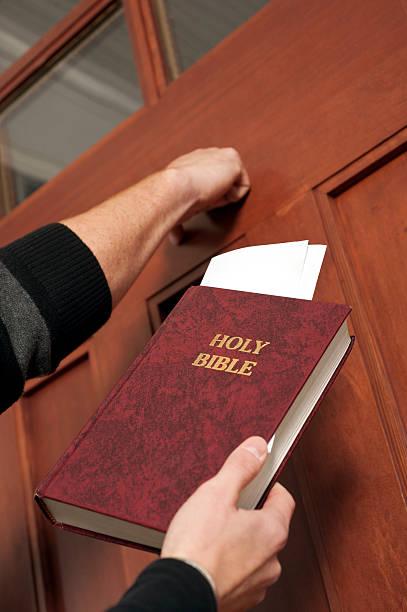 Christian Witnessing stock photo