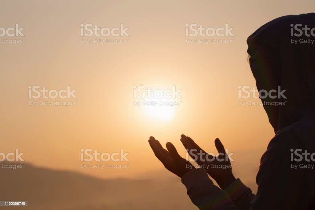 Christian woman hands praying to god Woman Pray for god blessing to...