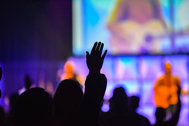 christian worship service - christianity stock photos and pictures