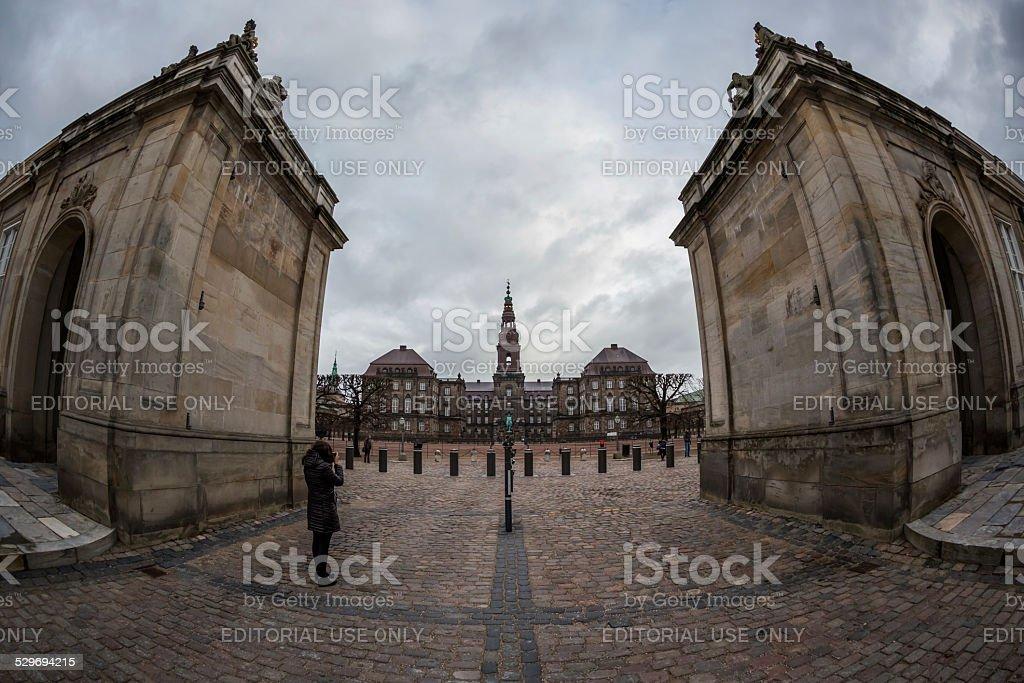 Christiansborg Castle, Copenhagen, Denmark stock photo