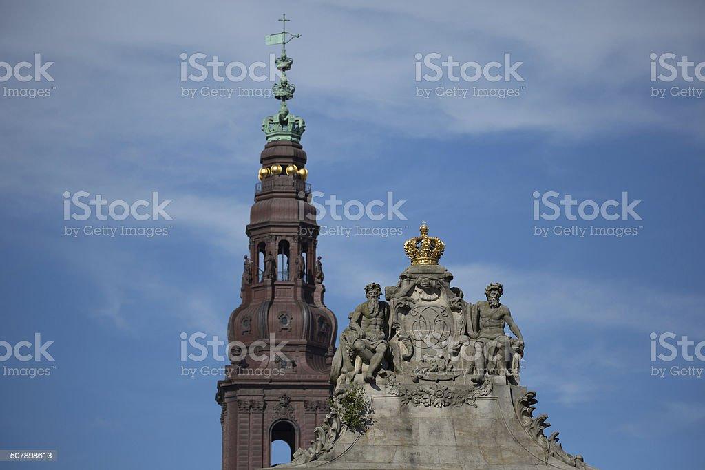 Christiansborg, Copenhagen, Denmark stock photo