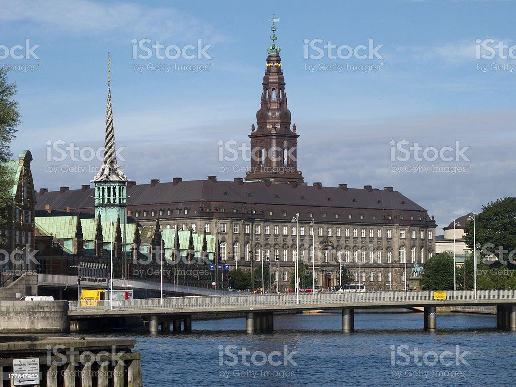 Christiansborg Palace Copenhagen, Folketinget stock photo