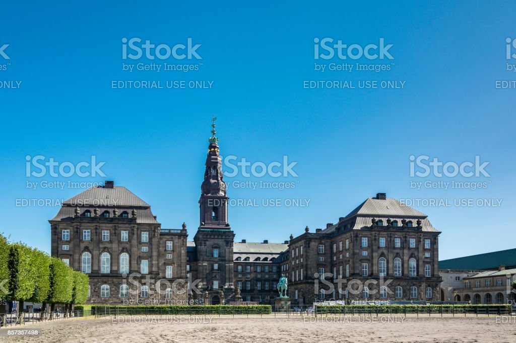 Christiansborg Palace in Copenhagen stock photo