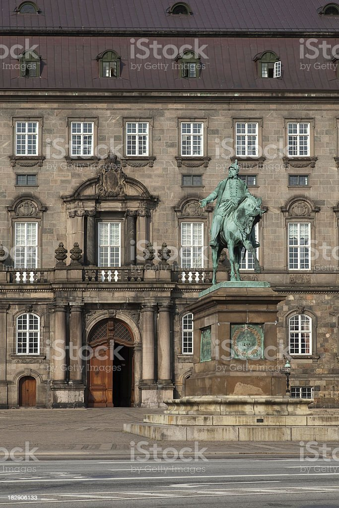 Christiansborg the Danish parliament stock photo