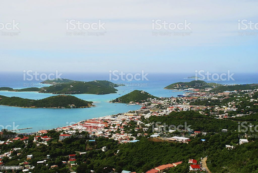 Christiansted View, St. Thomas, USVI stock photo