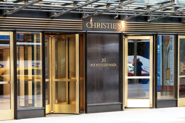 Christie's Auction House entrance stock photo