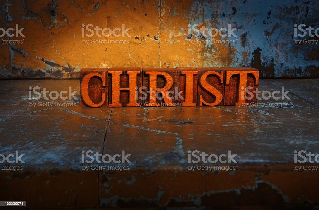 Christ-Lit up word royalty-free stock photo